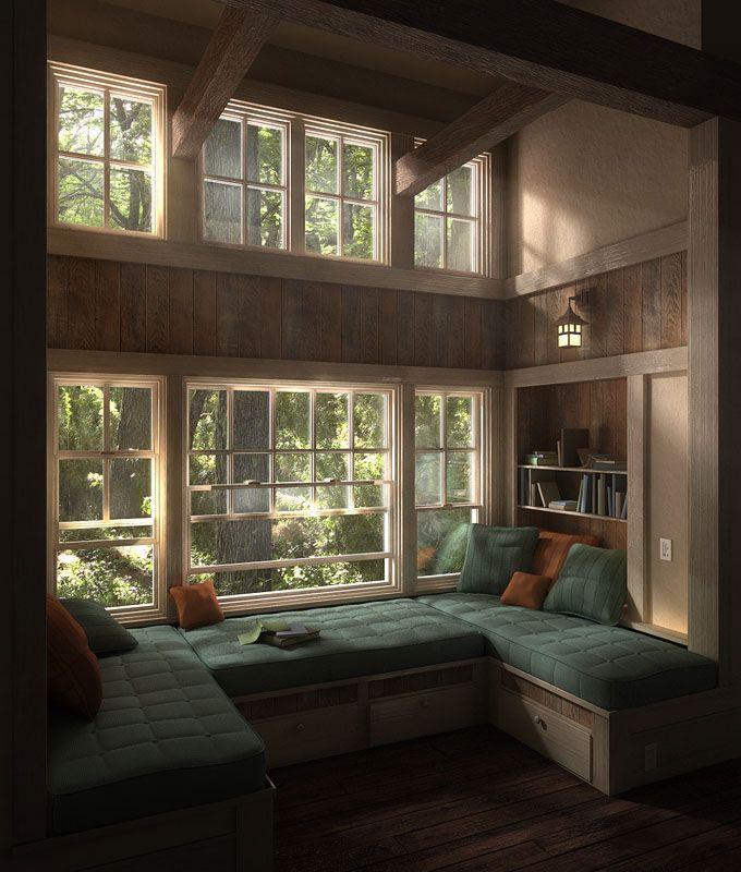Reading Nook Derek Jenson 3d Artist Home Window Seat Design My Dream Home