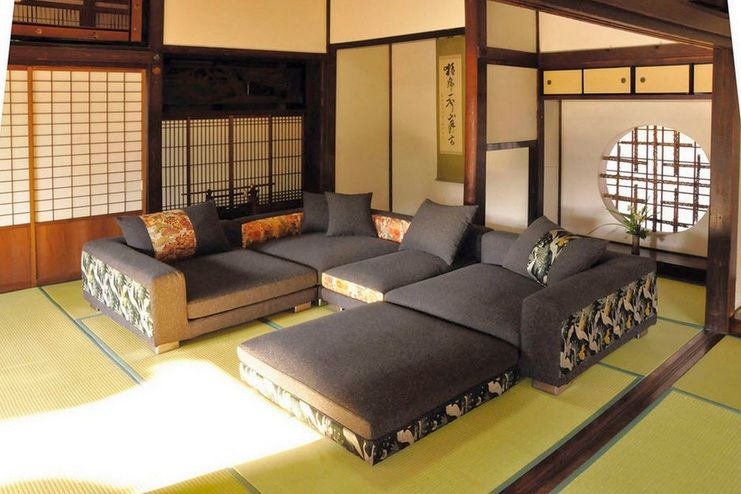 Japanese Style Living Room Ideas With Modern Couch Set Decolover