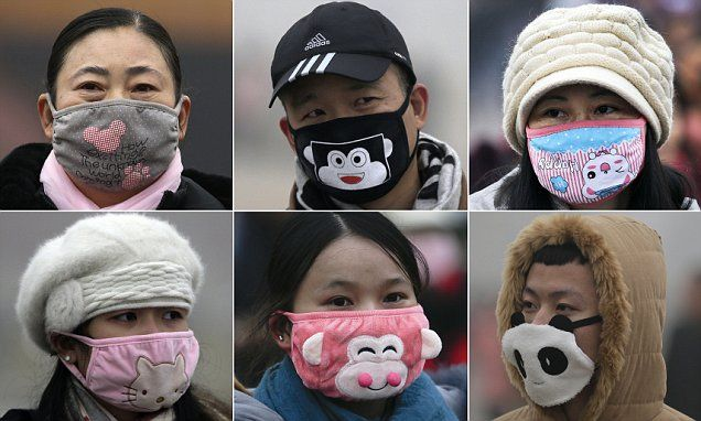 Fashionable Beijing's Face Chic Don Residents Pollution Masks