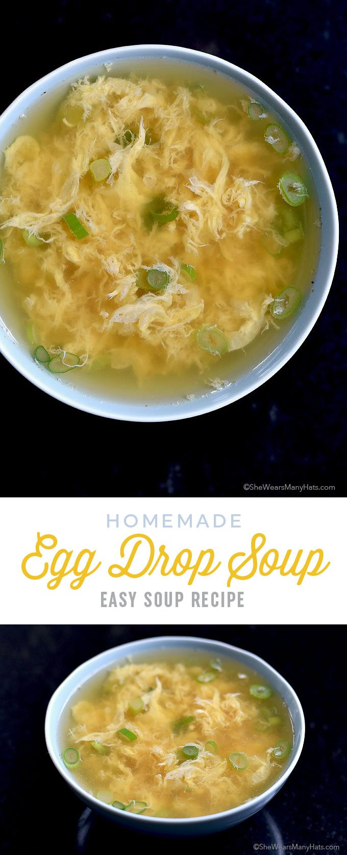 egg drop soup recipe is quick and easy to make in about 10 minutes