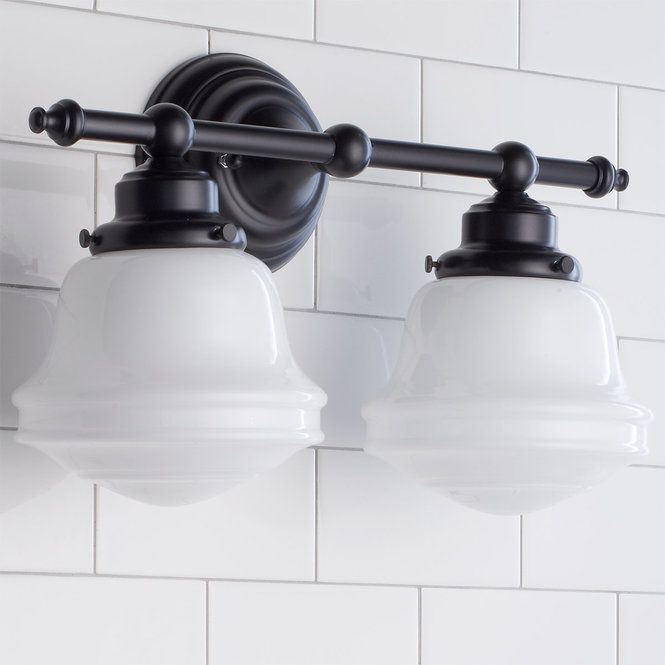 Photo of Frosted glass bathroom light – 2 lights