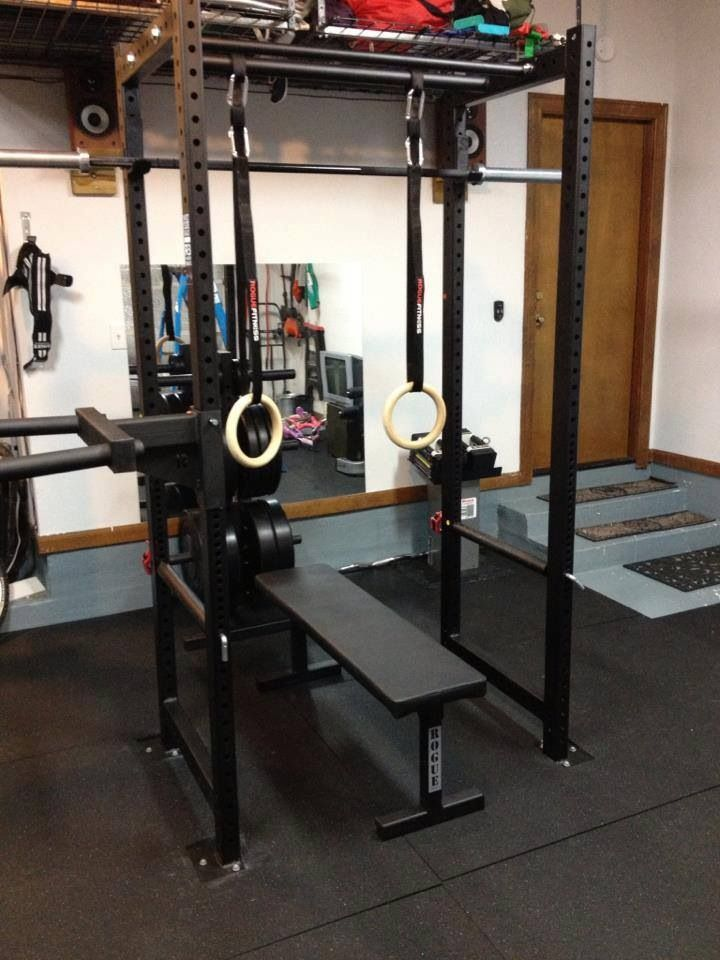 The Rogue Fitness Westside Barbell Old Skool Package Gym Room