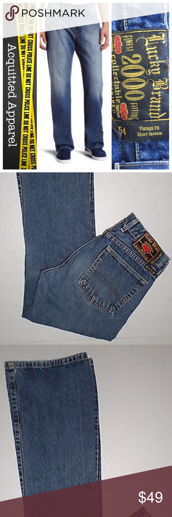 9e030d5f Men's Lucky Brand 54 Vintage Fit Jeans Collectable line. Vintage fit. Short  inseam. Size 34. Button fly. Excellent condition. Like new. Lucky Brand  Jeans ...