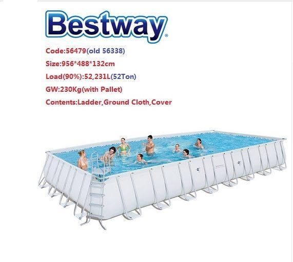 No Stock 56479 Bestway 9 56x4 88x1 32m 31 3 X16 X52 Power Steel Rectangular Frame Pool Set Above Ground Swi Above Ground Swimming Pools Bestway Swimming Pools
