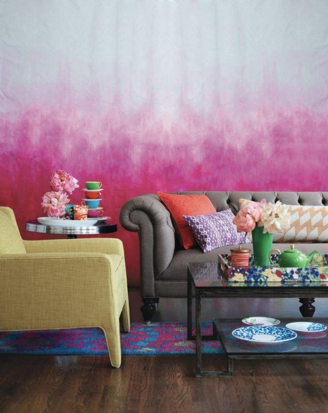 65 wand streichen ideen muster streifen und struktureffekte wandgestaltung pinterest. Black Bedroom Furniture Sets. Home Design Ideas