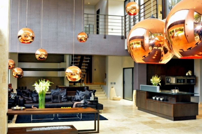Wohnküche modern und praktisch gestalten u2013 40 tolle Einrichtungsideen - offene wohnkuche mit wohnzimmer