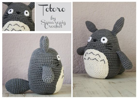This is an easy crochetpattern for the familiar totoro from the this is an easy crochetpattern for the familiar totoro from the awesome movie my neighbor dt1010fo