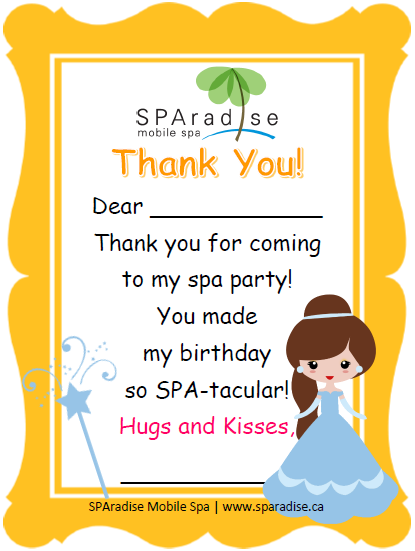 Free printable spa party thank you card by sparadise mobile spa free printable spa party thank you card by sparadise mobile spa reheart Image collections