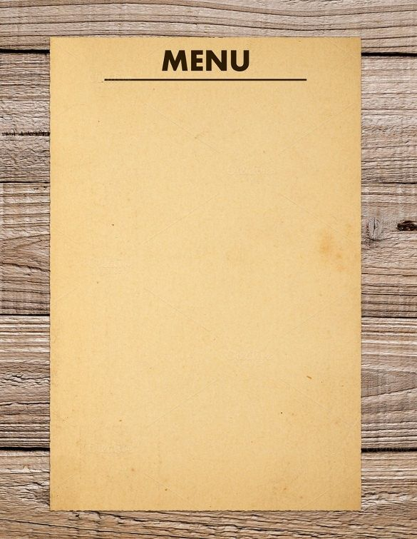 000 36+ Blank Menu Templates Free Sample, Example Format