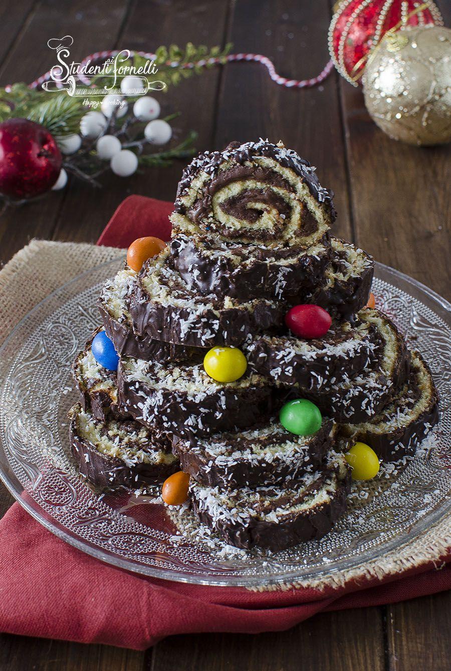 Dolce Di Natale Giallo Zafferano.Albero Di Girelle Alla Nutella Ricetta Dolce Di Natale Dolci