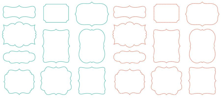 Vector Frame Shapes Scrolly vector shapes | printing | Pinterest ...