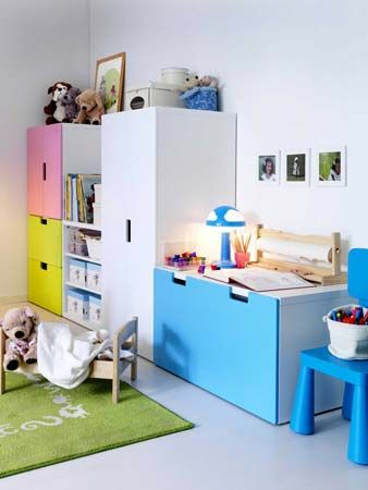 stuva ikea m bel im kinderzimmer bunte farben stauraum im kinderzimmer pinterest. Black Bedroom Furniture Sets. Home Design Ideas