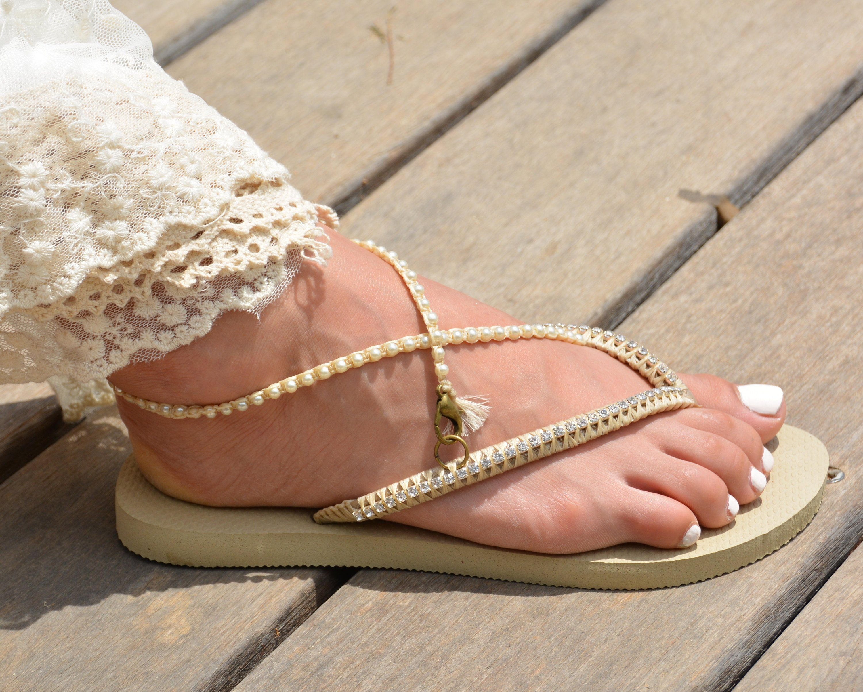 fa19bc5bc33 Bridal Flip Flops Wedding Flip Flops Bridesmaid Flip Flops