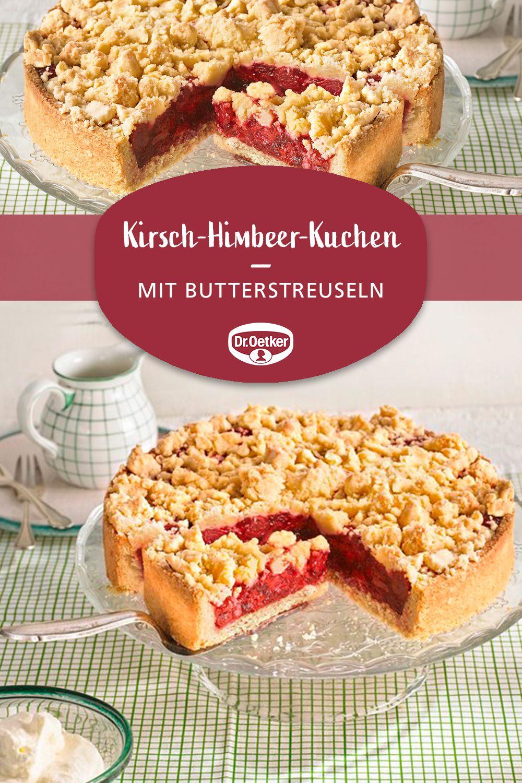 Kirsch-Himbeer-Streuselkuchen