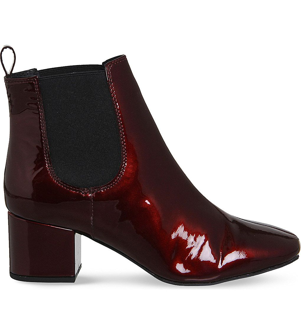 bfe3eeef666 Ankle Booties · Office Love Bug patent-leather Chelsea boots ( 74) ❤ liked  on Polyvore featuring