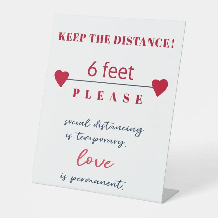 social distancing rule of 6ft distance safety sign