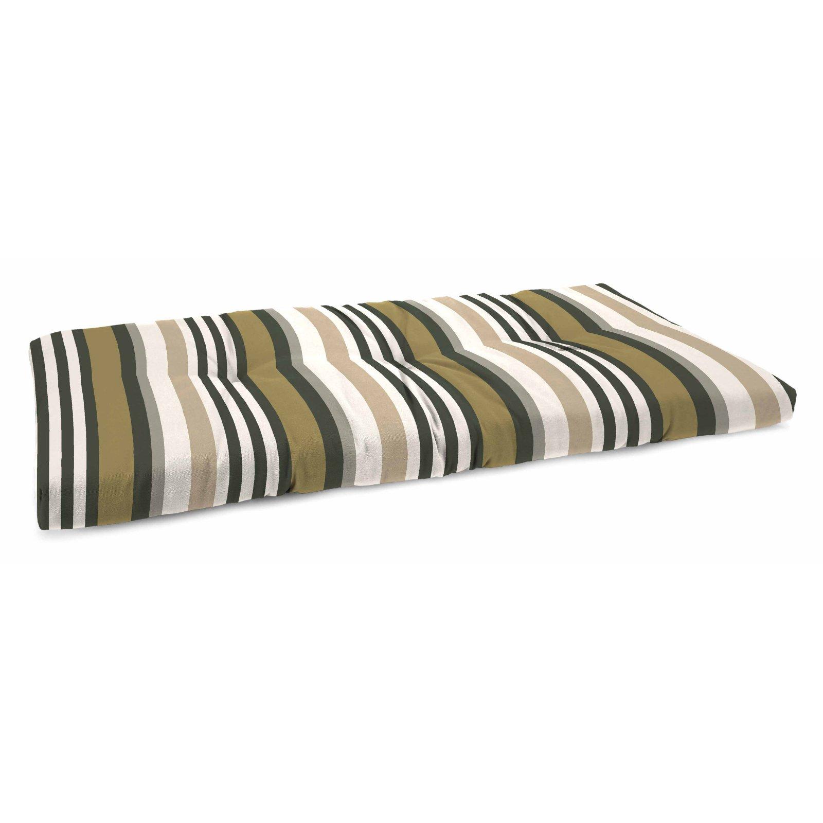 Jordan Manufacturing 45 In French Edge Outdoor Bench Cushion Kastel Kastel Pewter Deep Seating Bench Cushions