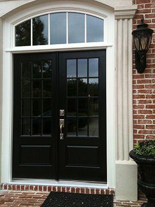 Before After Replacement Door Photos Exovations French Front Doors Black Exterior Doors