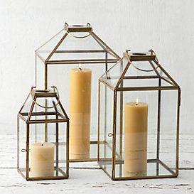 brass frame lantern accents candle lanterns metal lanterns rh pinterest com