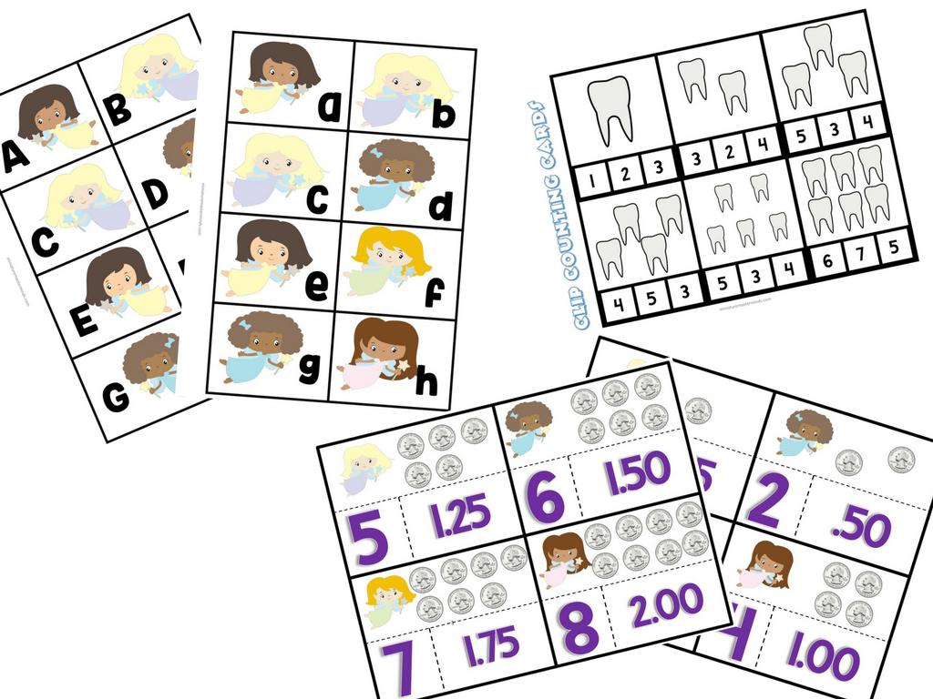The Tooth Fairy 103 Page Printable Preschool Kindergarten