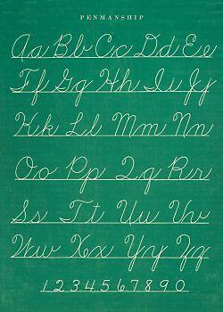 Penmanship Flat Wrap | Penmanship, Teaching cursive writing ...
