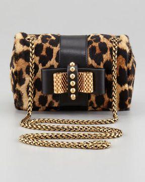 0e57a47ba Christian Louboutin Sweet Charity Leopard-Print Calf Hair Crossbody Bag on  shopstyle.com