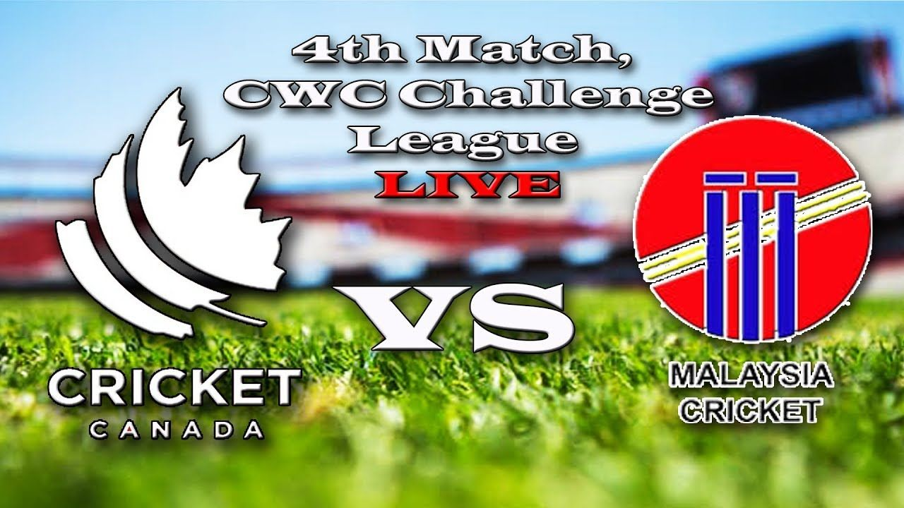 Live streaming malaysia vs canada, 4th Match, CWC