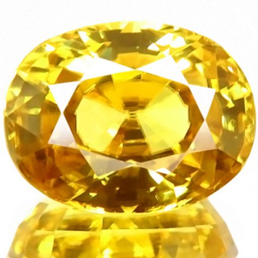 5.82CT IF Natural Unheated Oval Yellow Zircon AAAAA by ArtTown