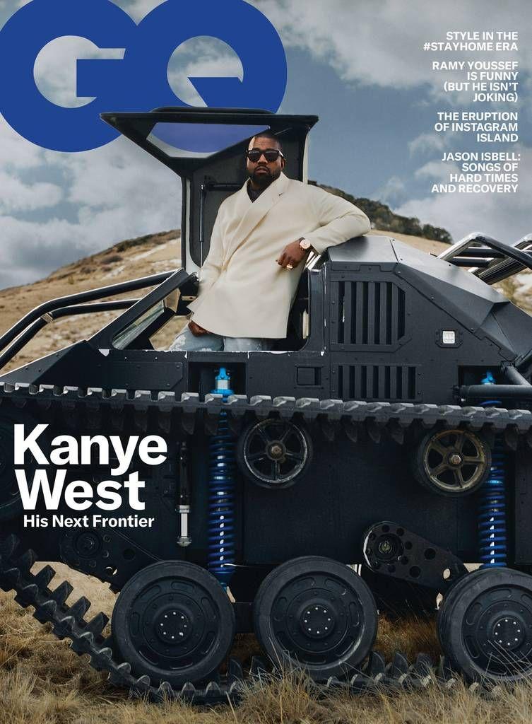 Gq Magazine May 2020 Kanye West In 2020 Kanye West Gq Usa Kim Kardashian Kanye