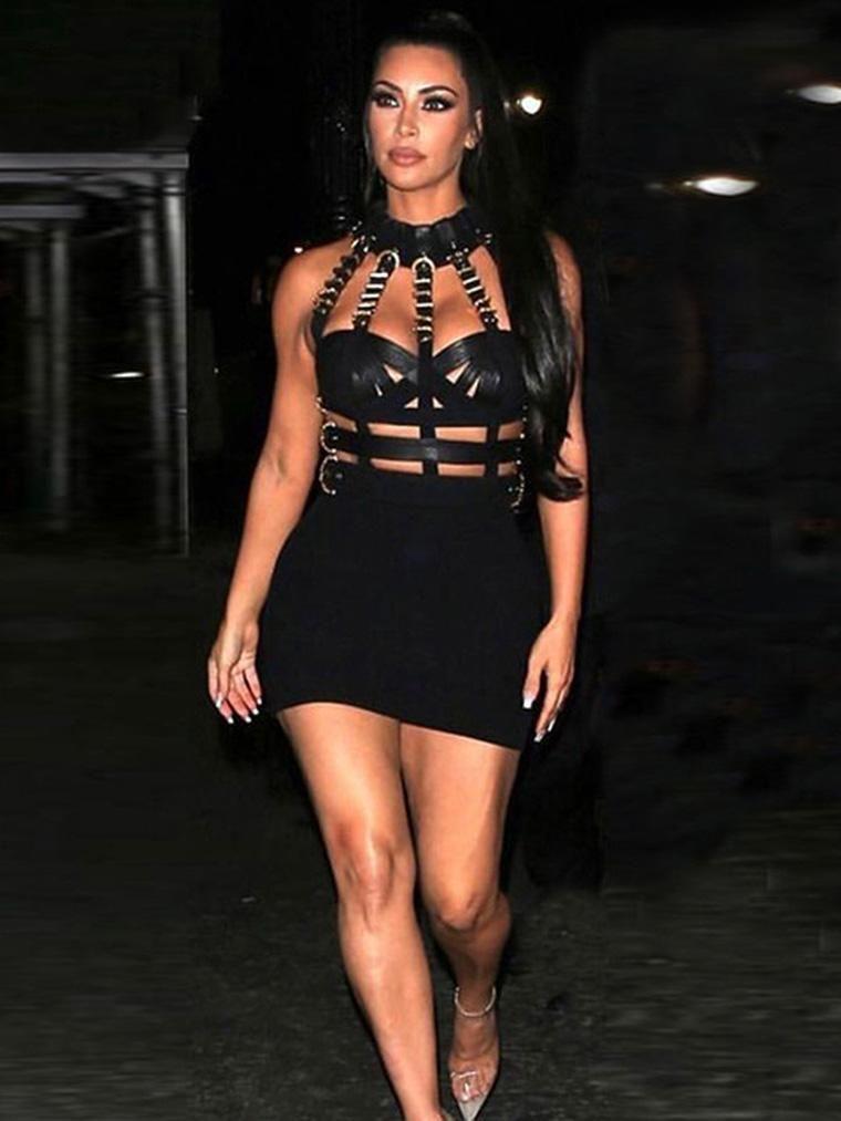 Sleeveless Cutout Black Mini Bandage Dress – CHICIDA 5083f280314b