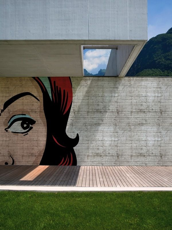 Pop Pop Pop | Pop Art | Outdoor Wallcovering | Design. Wall and Decor, an Italian company, makes exterior wall coverings.