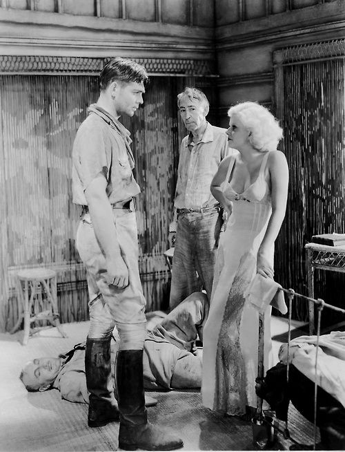 Jean Harlow and Clark Gable in Red Dust, 1932.
