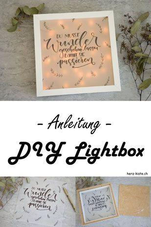 Letter lovers zu gast lettering pinterest basteln geschenke selber machen - Lightbox selber machen ...