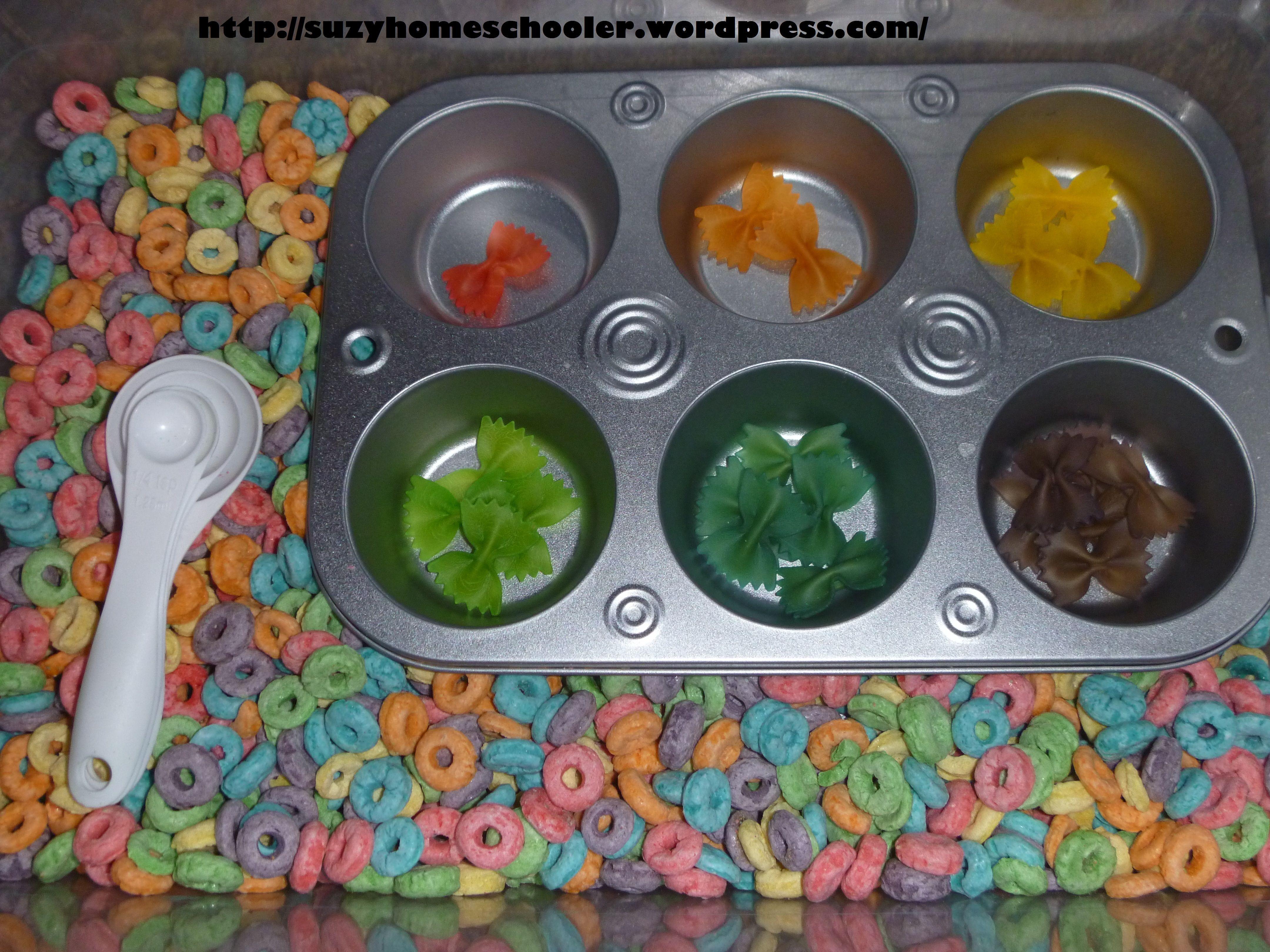 sensory bin ideas - Color Sorting and Fine Motor | Sensory Tub Ideas ...
