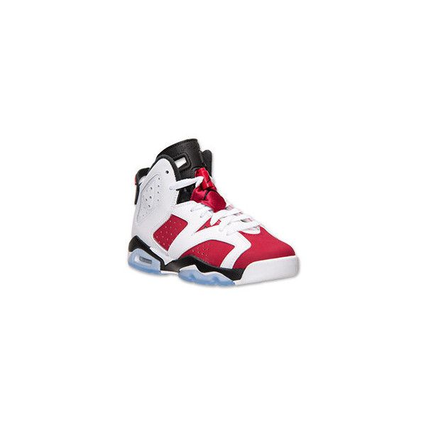 ebd1e833b12 Boys Grade School Air Jordan Retro 6 Basketball Shoes (14) ❤ liked on ...