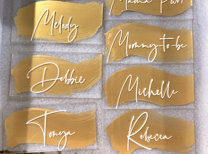 Acrylic Seating Chart Cards Clear Hand Lettered Place Cards 25 Acrylic Calligraphy Wedding Escort Cards Round Cards Wedding Place Cards