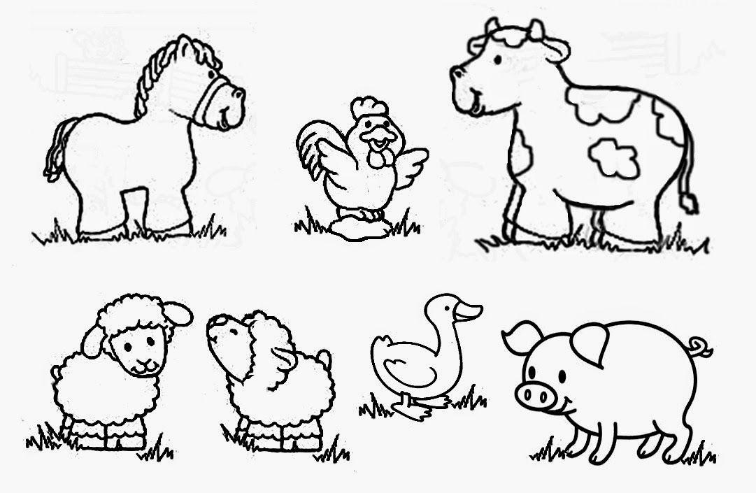 Recursos Para Educacion Inicial Dibujos De Animales Para Colorear