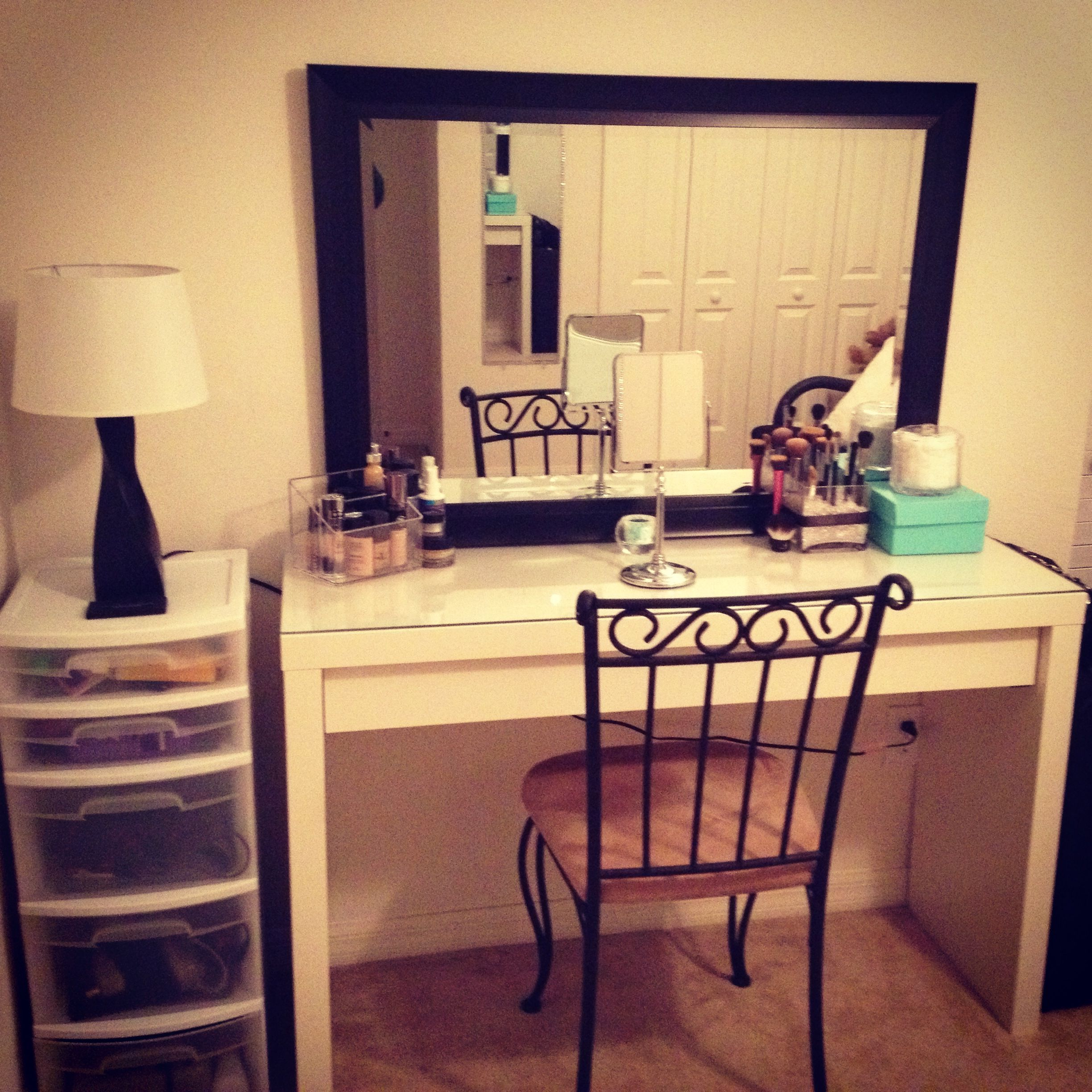 Elegant My Makeup/hair Station In My Beauty Room!