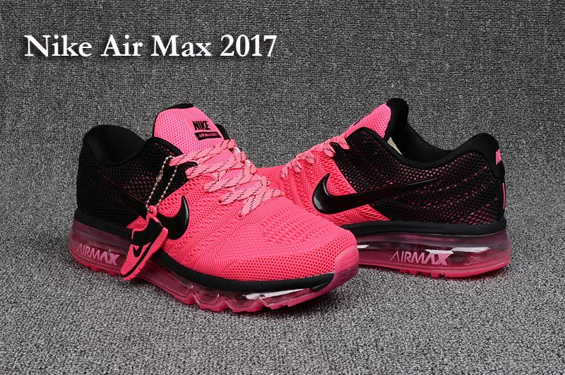 Nike Air Max 2017 Leather Pink Black Women Shoes