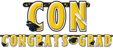 Yellow Giant Letter Graduation Banner - Party City