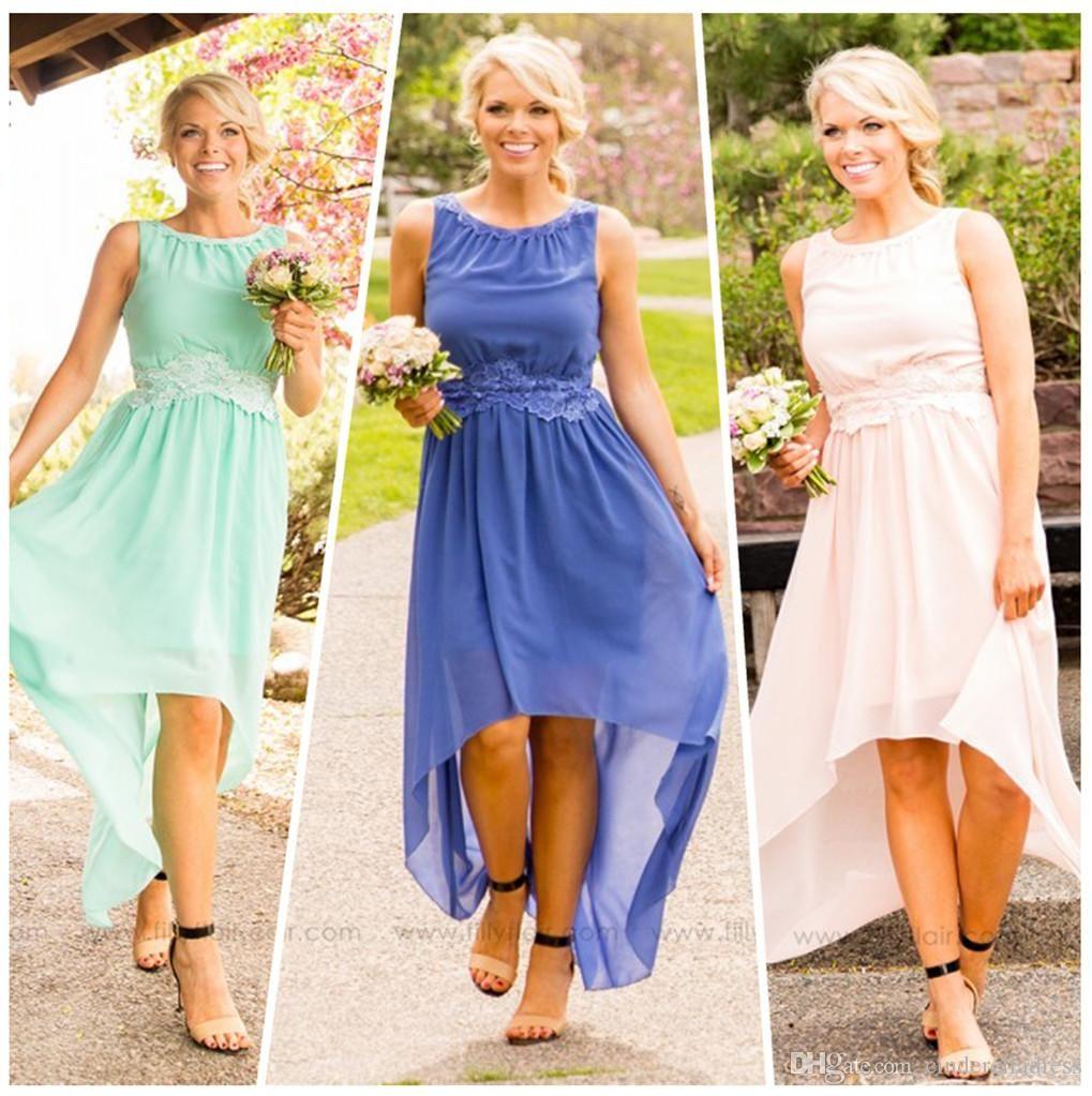 Cheap cheap navy blue country bridesmaid dresses 2017 short for 2016 country high low bridesmaid dresses in mint beige royal blue blush cheap beach summer party ombrellifo Gallery