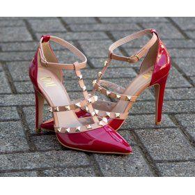 a1c00c77c1d Scarpin DM Extra Verniz Vermelho Jambo 9729-16 Valentino Inspired Numeração  Especial Tamanhos Grandes 41 42 43