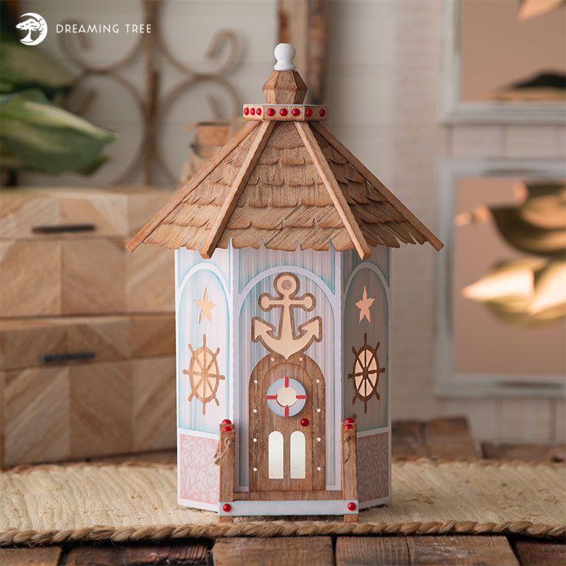 Beach House SVG | Summer | House template, Paper houses, 3d