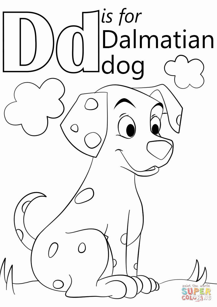 Letter D Coloring Pages Inspirational Letter D Is For Dalmatian