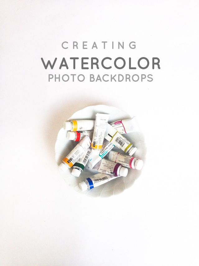 A DIY tutorial on how to create watercolor photo backdrops