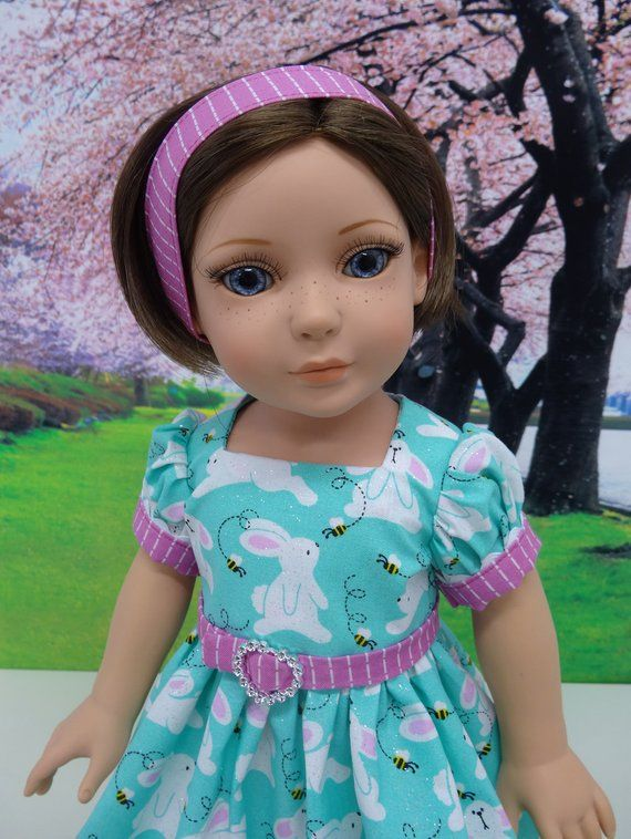 dc08c84d9bd March Hare - vintage style dress for American Girl doll