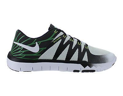 new styles ddc47 b2646 Mens Nike Free Trainer 5.0 V6 AMP Oregon Ducks White SIlver Volt 723939-100