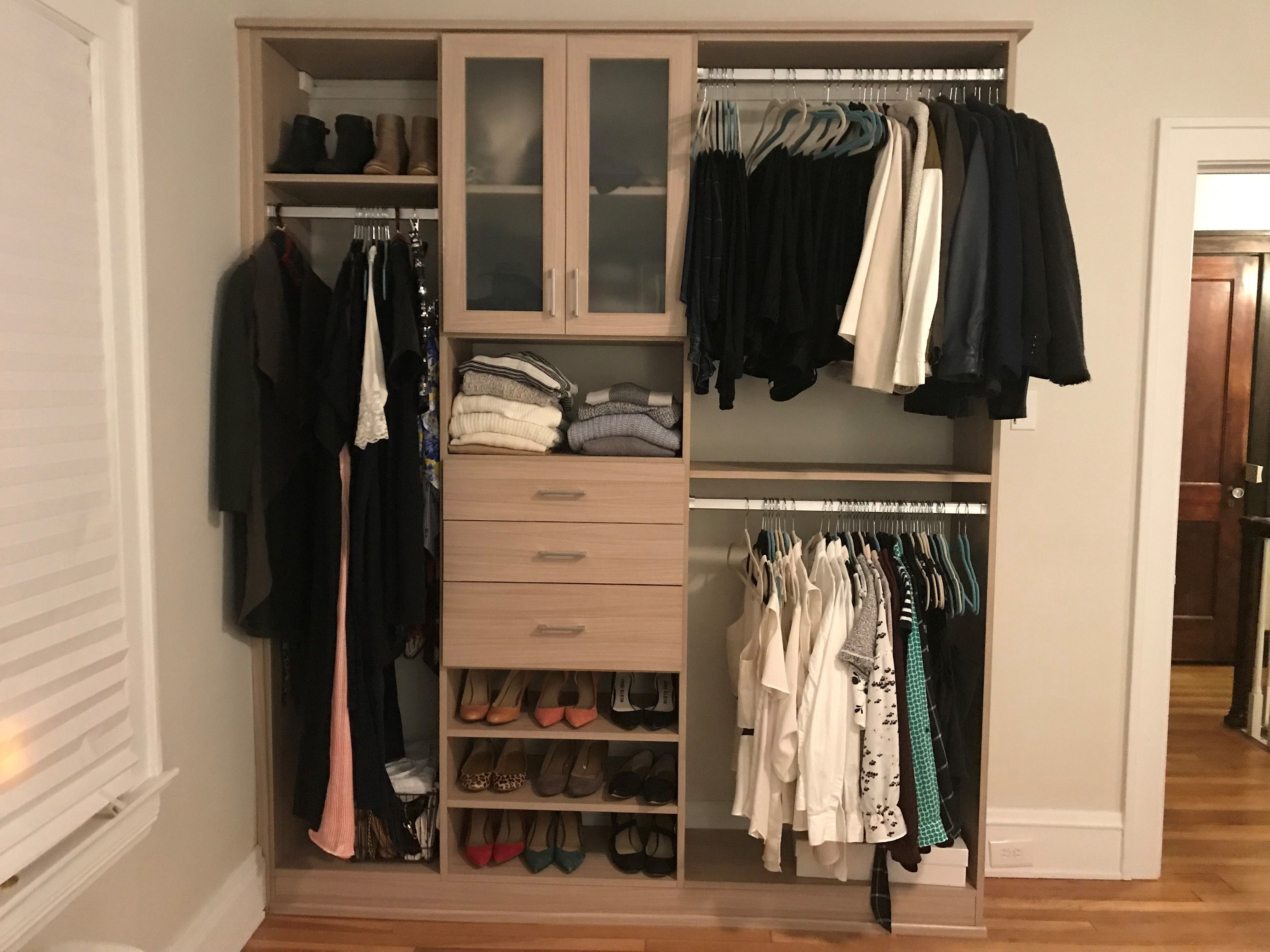 Beautiful Open Closet System So Gorgeous It Shouldn T Be Behind