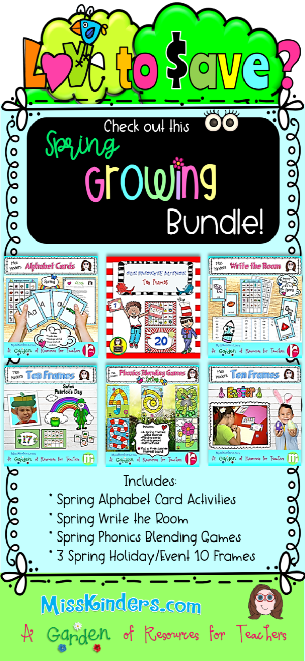 Spring Learning Centers Growing Bundle | tpt | Pinterest