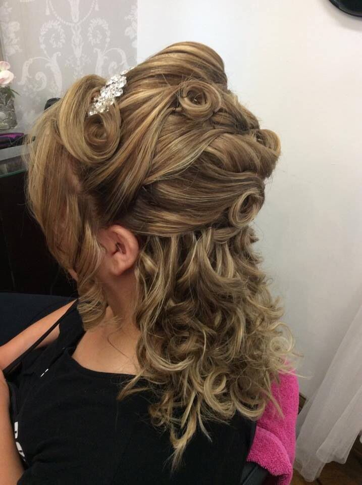 Breathtaking wedding hair done by Mez at Cloud Nine Hair and Beauty Salon